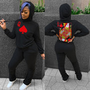 RoseyMacy Women Sweatsuits Women Hoodies and Sweat Pants Two Pieces Outfits