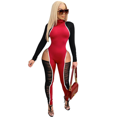 RoseyMacy Women Jumpsuits Hollow Outfts Jumpsuits Sexy Jumpsuits