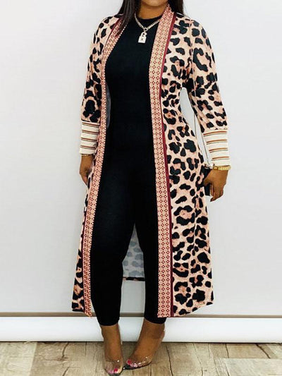RoseyMacy Women Cardigan Printing Cardigan Winter Outerwear