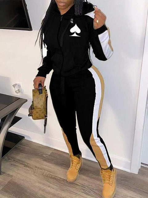 RoseyMacy 2020 Winter Women sweatsuit Two Pieces Outfits Women Hoodies Outfits