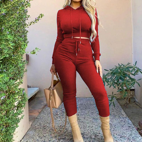 RoseyMacy Women Crop tops and Women  Pants Two Pieces Outfits