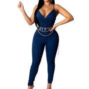RoseyMacy Classic Denim Woemn Jumpsuit One Piece Jumpsuit