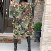 RoseyMacy Women Outerwear Camo Prinitng Women Coat Women Outerwear