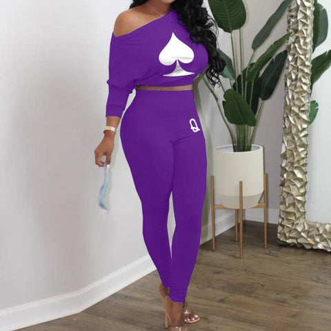RoseyMacy Crop Tops and women Sweat Pants Two Pieces Outfits
