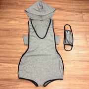 RoseyMacy  Hooded One Piece Romper (with Face Mask)