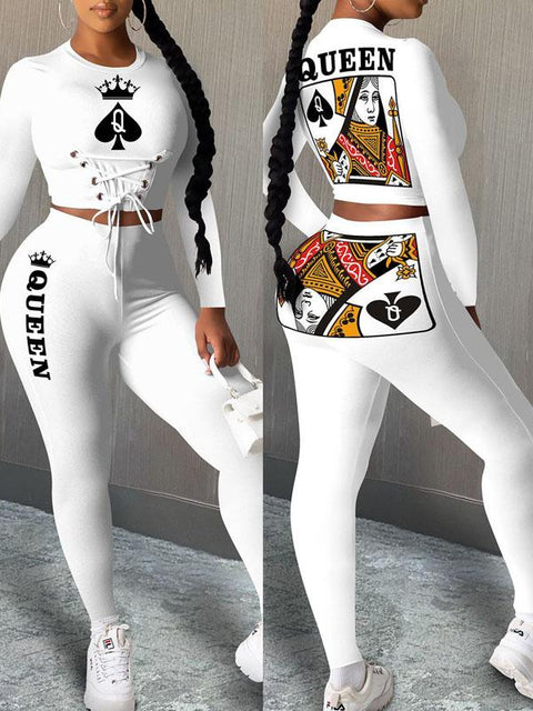 RoseyMacy Women Crop Tops and Sweat Pants Two Pieces Outfits