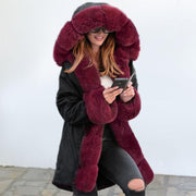 : RoseyMacy Women Coat Winter Furry Coat Women Outerwear Winter Jacket