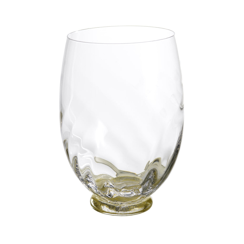 124401 Abigails Wholesale Tabletop Glassware Wine and Bar Elisa Wine Clear with Gold Elisa
