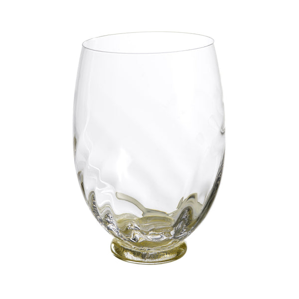 Elisa Wine, Clear with Gold, Set of 4 on