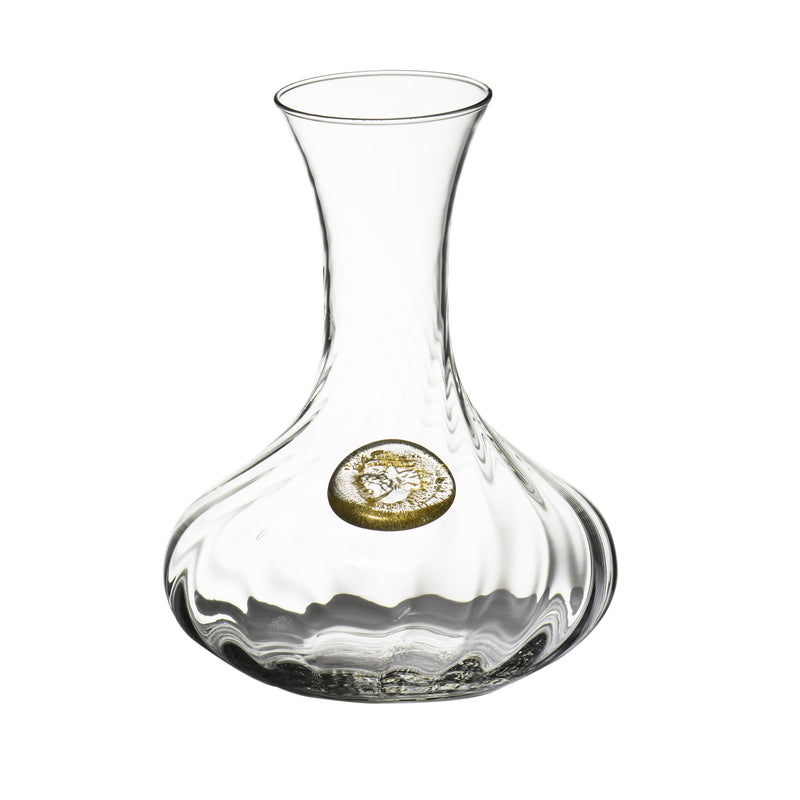 124403 Abigails Wholesale Tabletop Glassware Wine & Bar Elisa Carafe, Clear with Gold Elisa