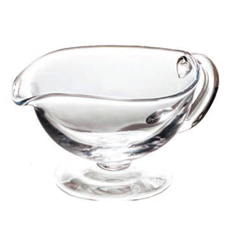 Classic Glass Sauce Boat, Decorative Handles