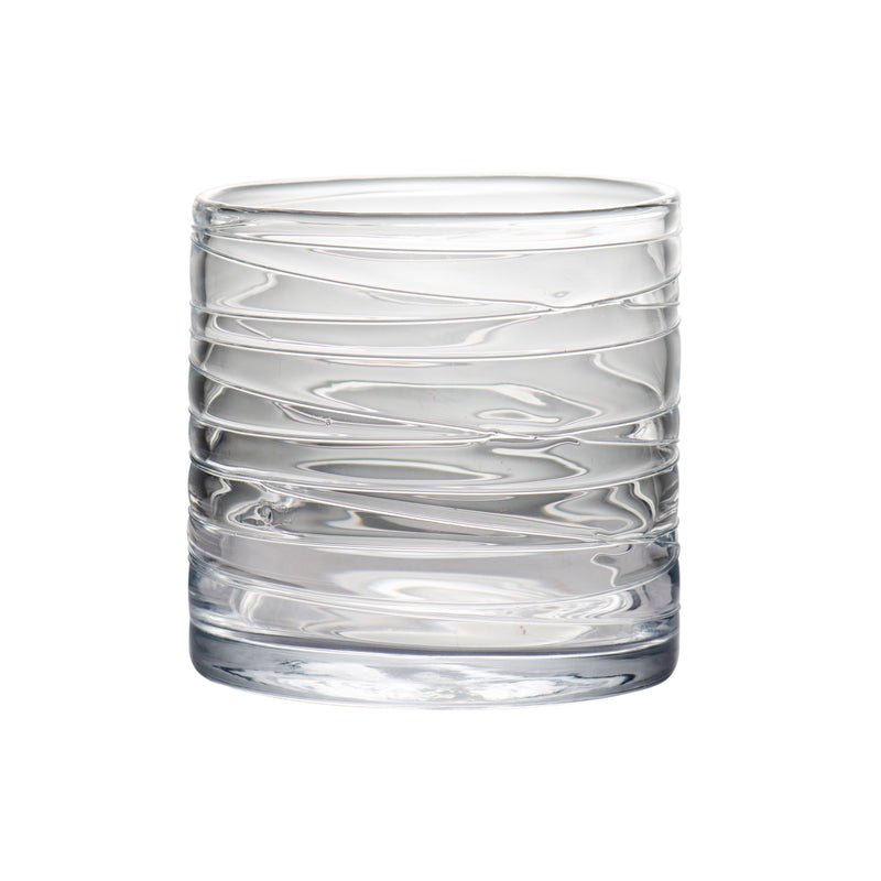 164582 Abigails Wholesale Home Décor Glassware Hurricanes Clear Hurricane with Swirl Medium