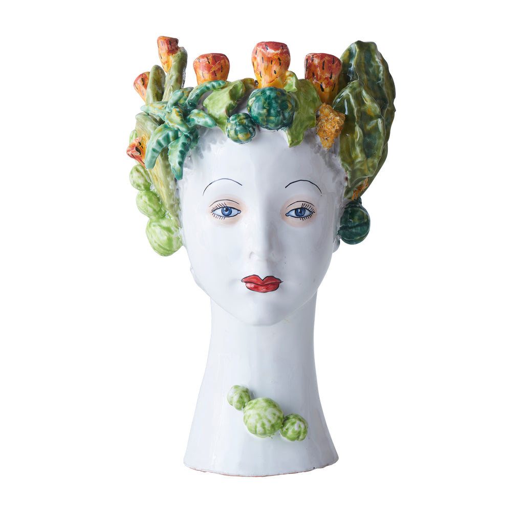 Ceramic Head Vase, Succulent Decor