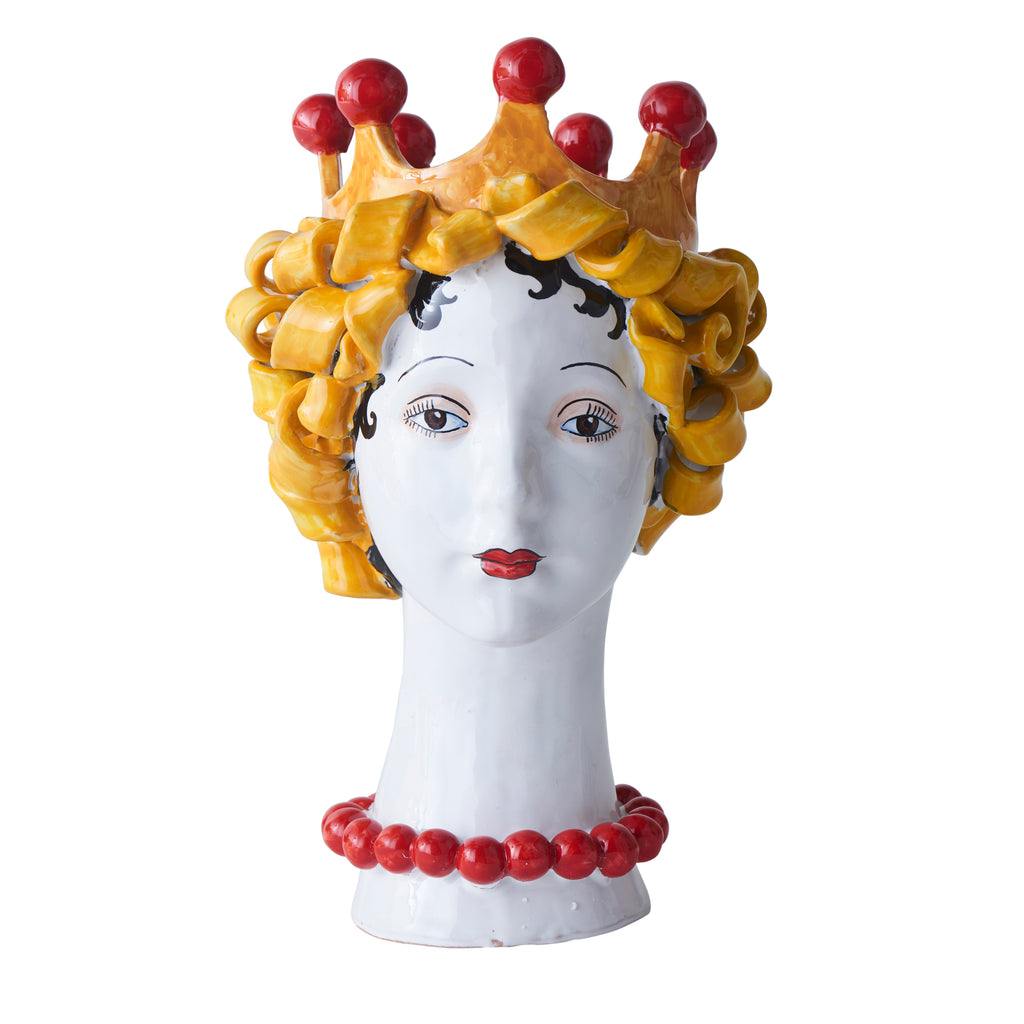Ceramic Head Vase, Pasta Decor
