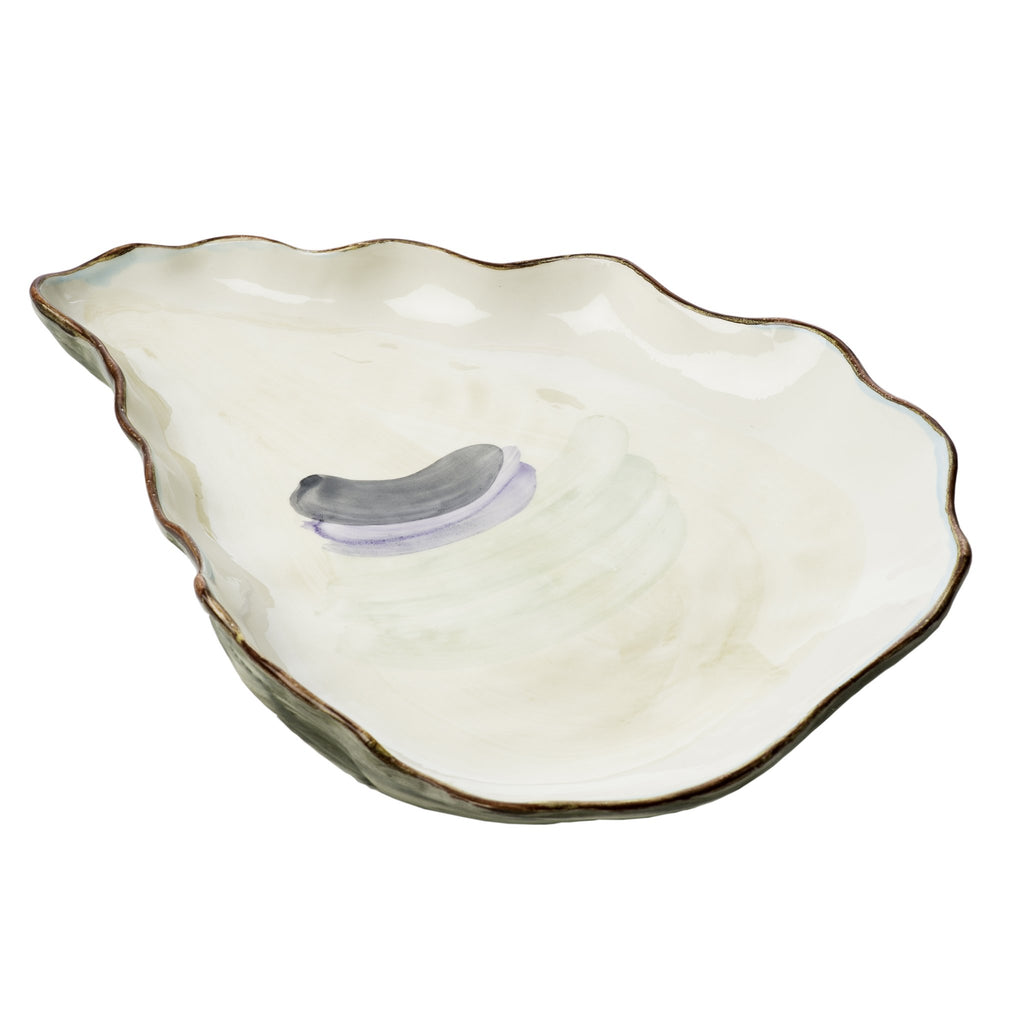 240715 Abigails Wholesale Tabletop Ceramics Oyster Plates Oyster Plate Large Set of 2 Seaside