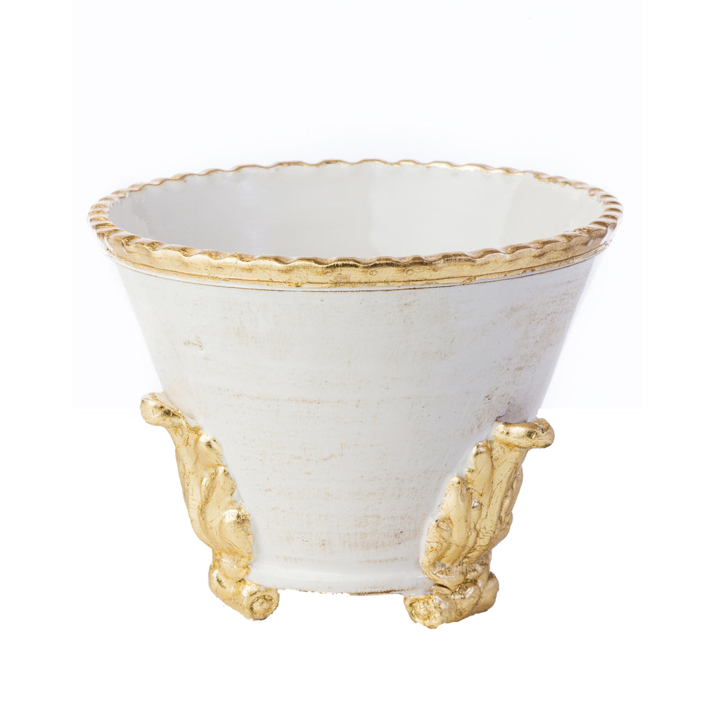 Roma Collection, Gold Acanthus Cachepot, Small
