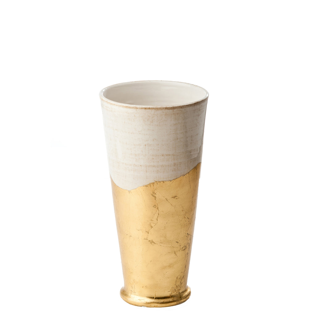 Roma Collection, Gold Wave Vase, Small