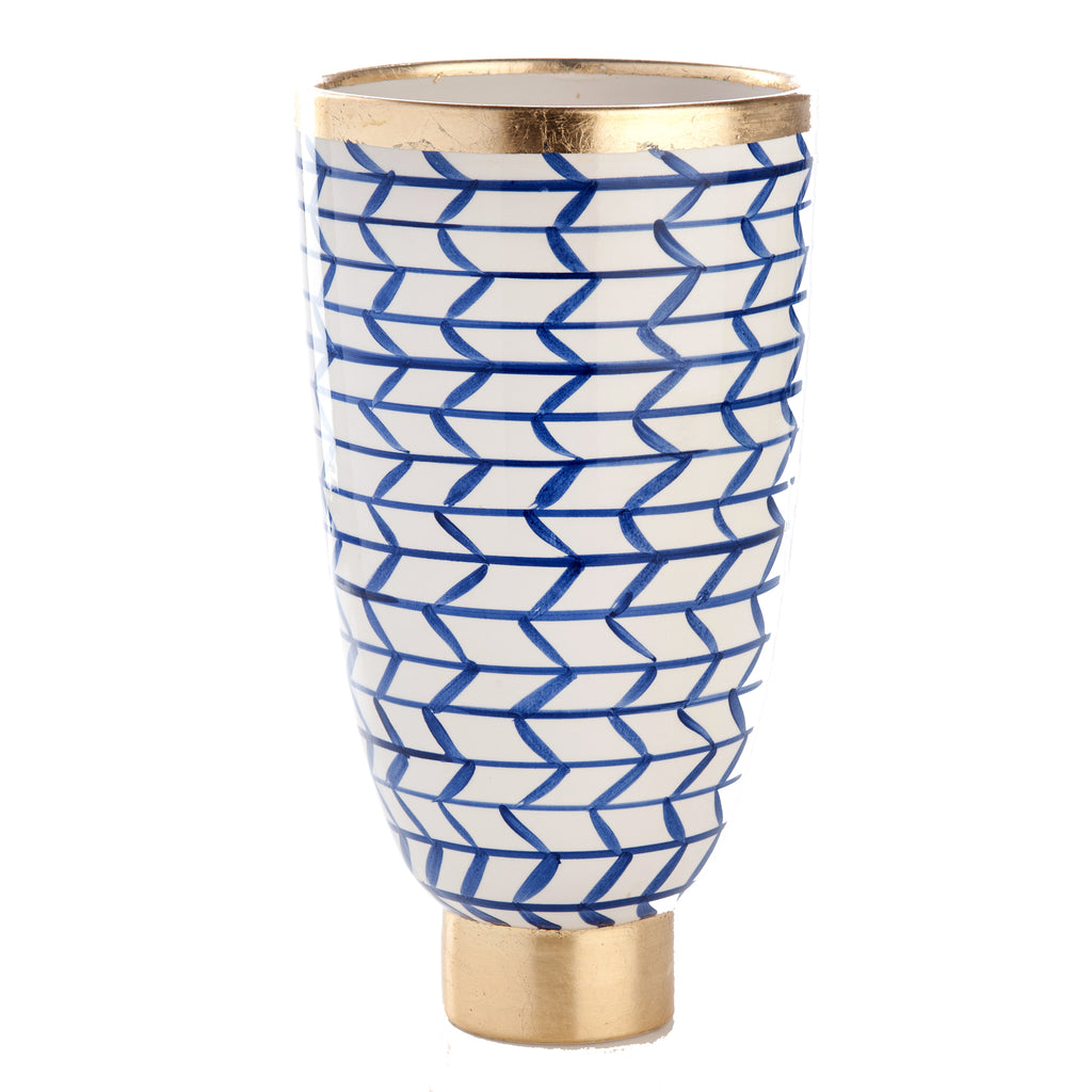 Contempo Collection, Decorative Geometric Ceramic Vase