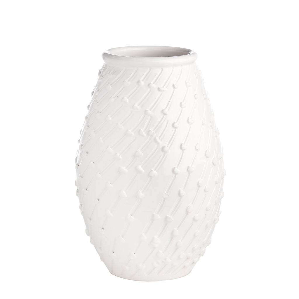 260124 Abigails Wholesale Home Décor Ceramics and Terra Cotta Vases Bari White Vase Bari