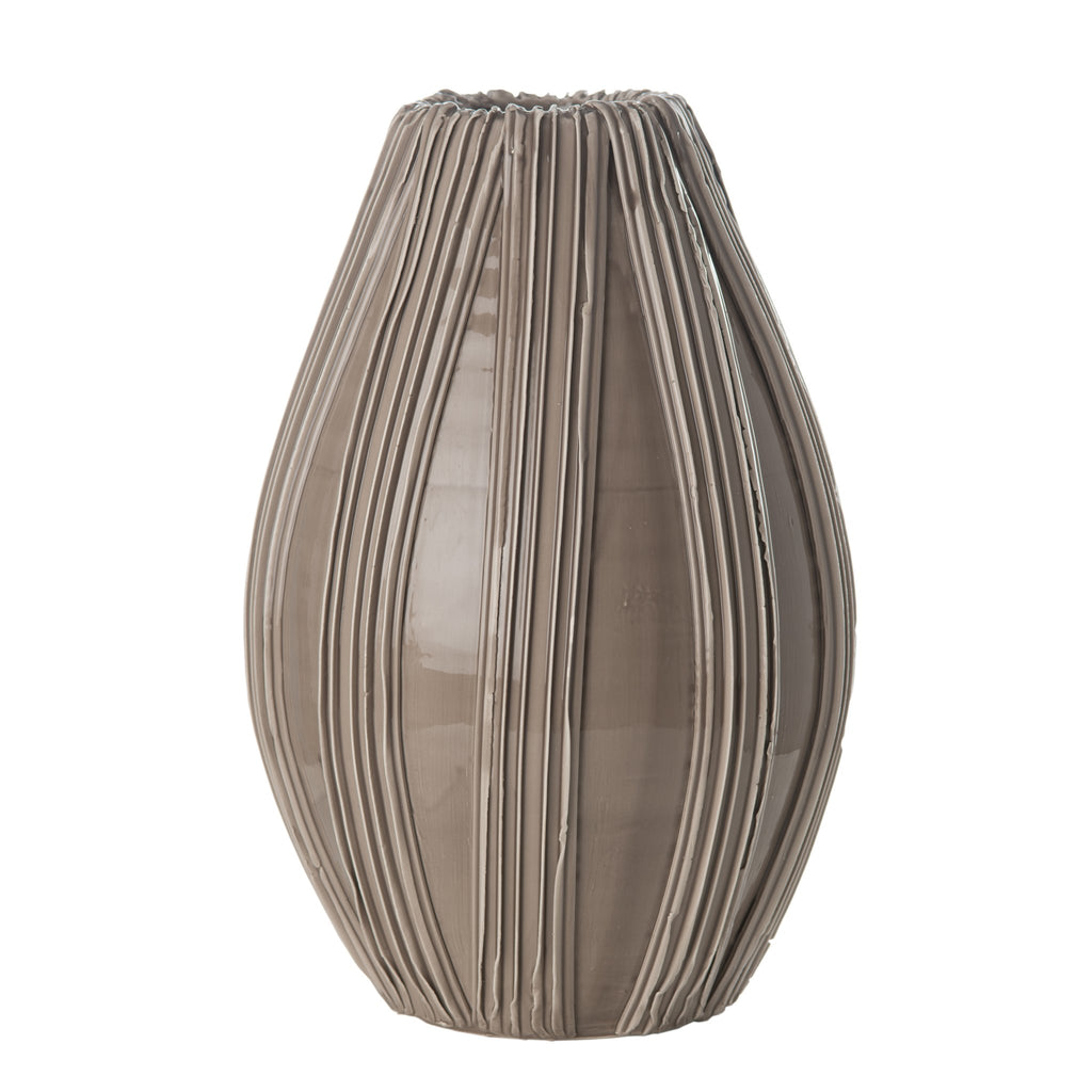 260141 Abigails Wholesale Home Décor Ceramics and Terra Cotta Vases Alpine Olive Vase Taupe Alpine
