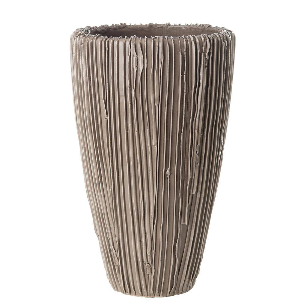 260142 Abigails Wholesale Home Décor Ceramics and Terra Cotta Vases Alpine Cone Vase Taupe Alpine