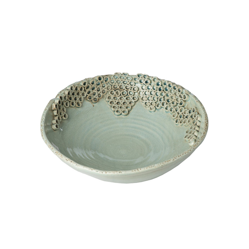 260149 Abigails Wholesale Home Décor Ceramics and Terra Cotta Compotes and Bowls Cerchio Bowl Celadon Cerchio