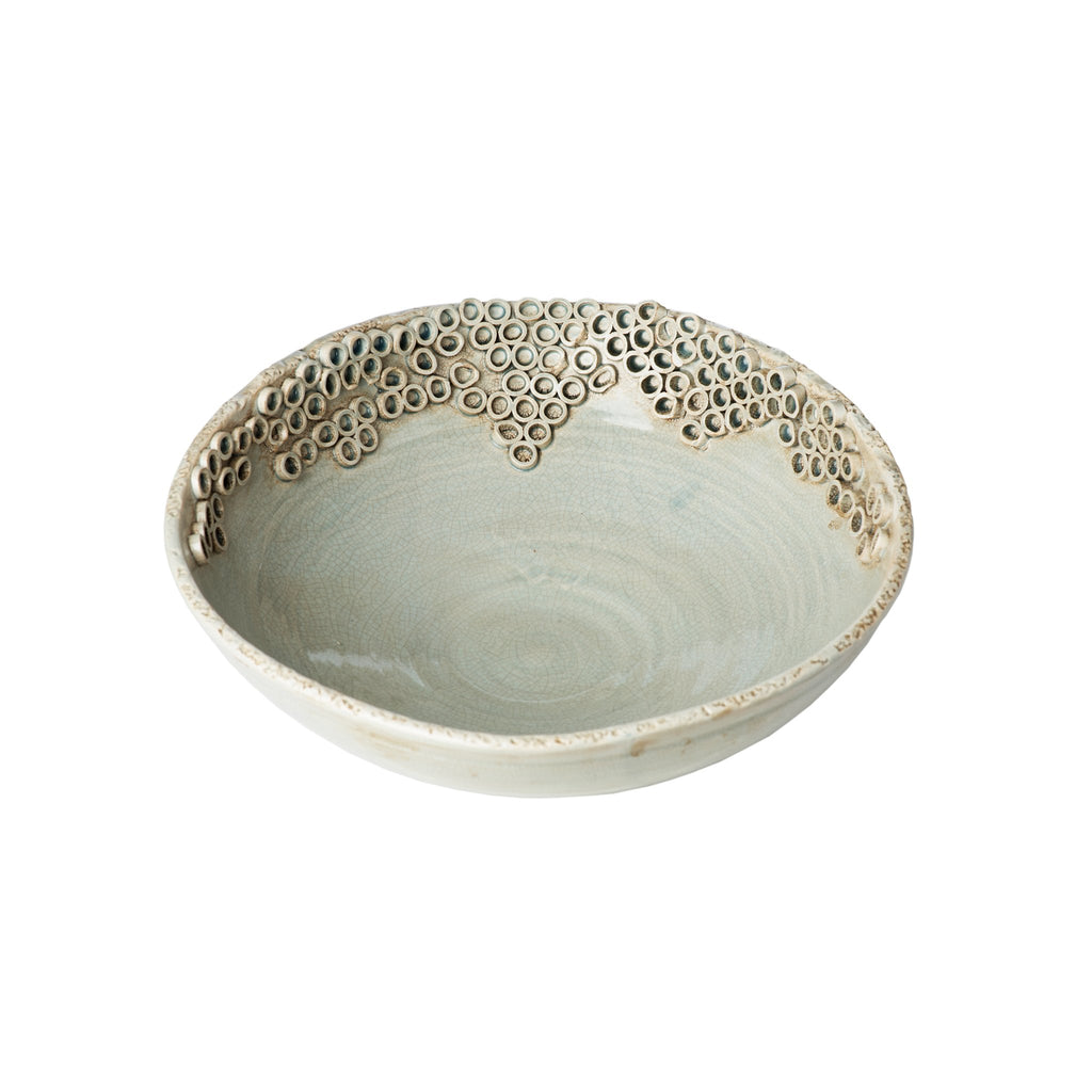 260155 Abigails Wholesale Home Décor Ceramics and Terra Cotta Compotes and Bowls Cerchio Bowl Gray Cerchio