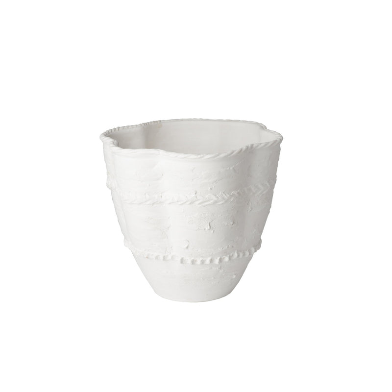 260157 Abigails Wholesale Home Décor Ceramics and Terra Cotta Planters Pompeii Planter Large white Pompeii