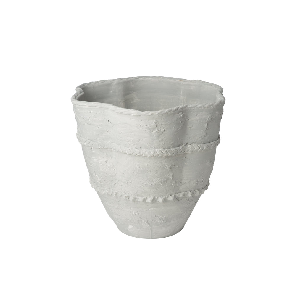 260162 Abigails Wholesale Home Décor Ceramics and Terra Cotta Planters Pompeii Planter Large Gray Pompeii