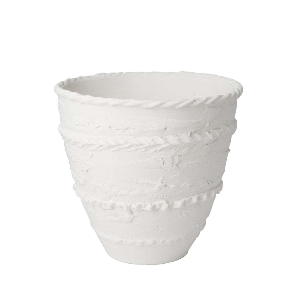 Pompeii Cachepot, Matte White, Medium