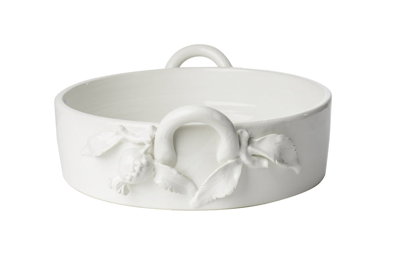 White Scalloped Edge Planter, Rectangle