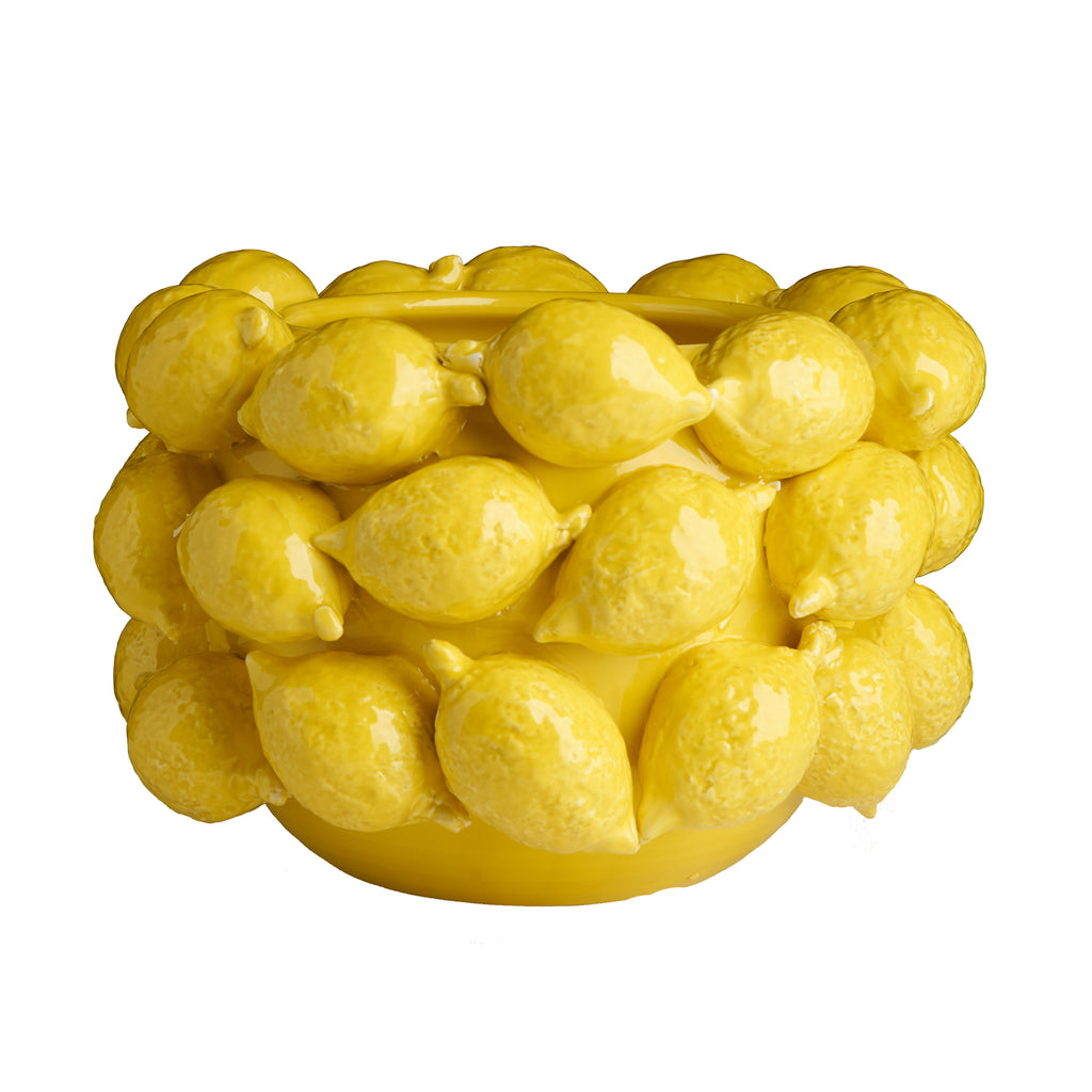 Ceramic Lemon Planter, Yellow