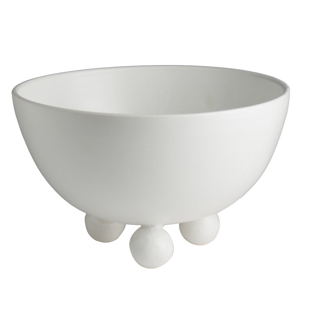 Catalina Footed Bowl, Matte White
