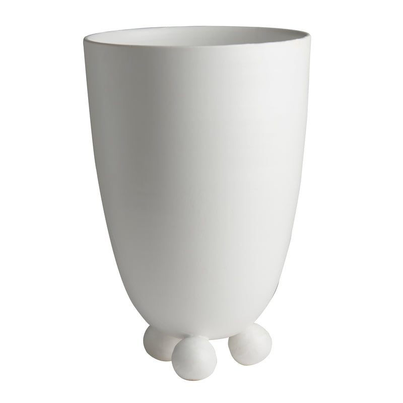 Catalina Footed Vase, Matte White