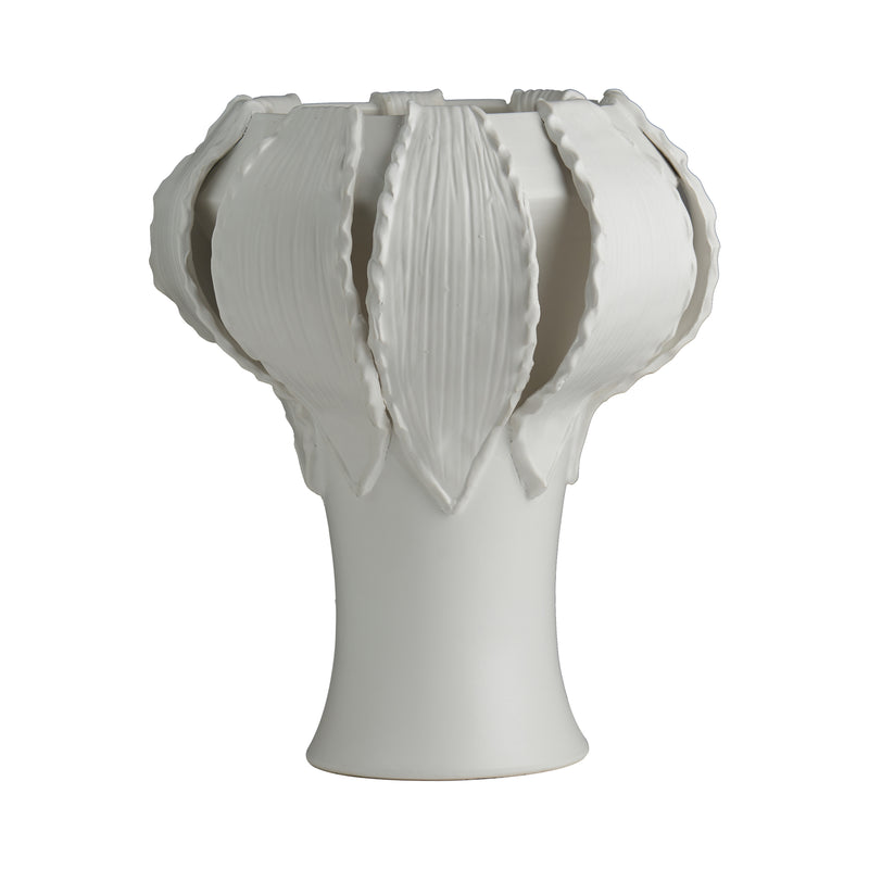 Catalina Garlic Vase, Matte White
