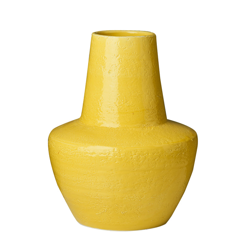 Limone Hammered Vase, Yellow