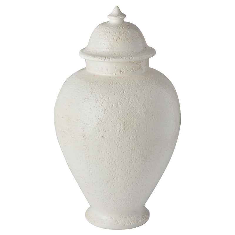 Limone Hammered Urn, White