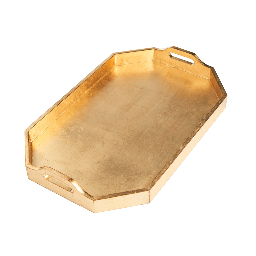 Rectangle Tray, Large, Gold Finish