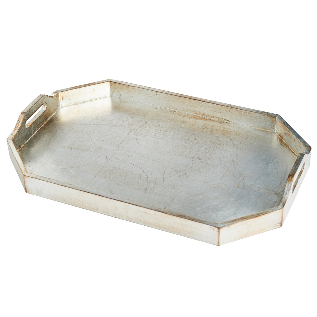 Rectangle Tray, Large, Silver Finish