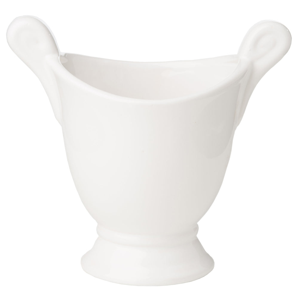 400433 Abigails Wholesale Home Décor Ceramics and Terra Cotta Cachepots Medium White Cachepot*