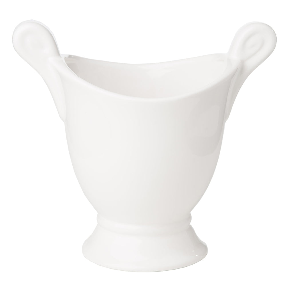 400434 Abigails Wholesale Home Décor Ceramics and Terra Cotta Cachepots Large White Cachepot*