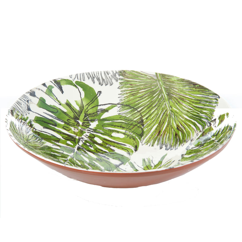 Palmetto Large Ceramic Serving Bowl
