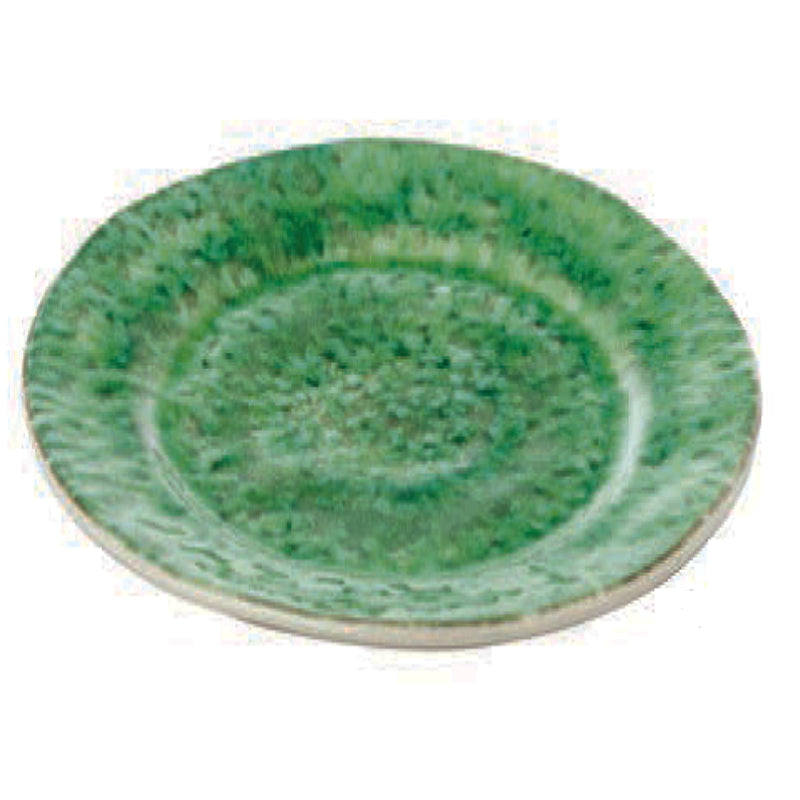 405001 Abigails Wholesale Tabletop Ceramics Dinnerware Bali Dinner Plate Green Set of 4