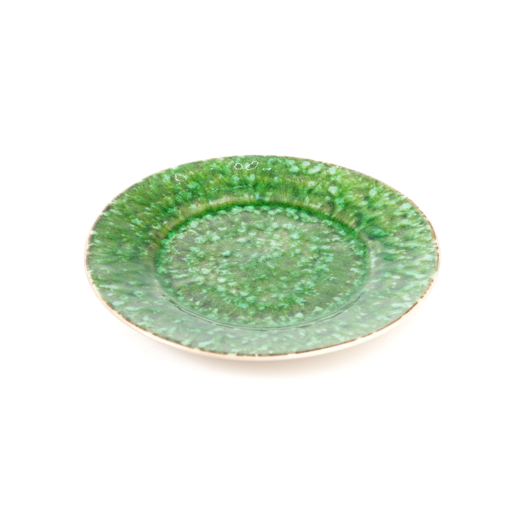 405002 Abigails Wholesale Tabletop Ceramics Dinnerware Bali Salad Plate Green Set of 4