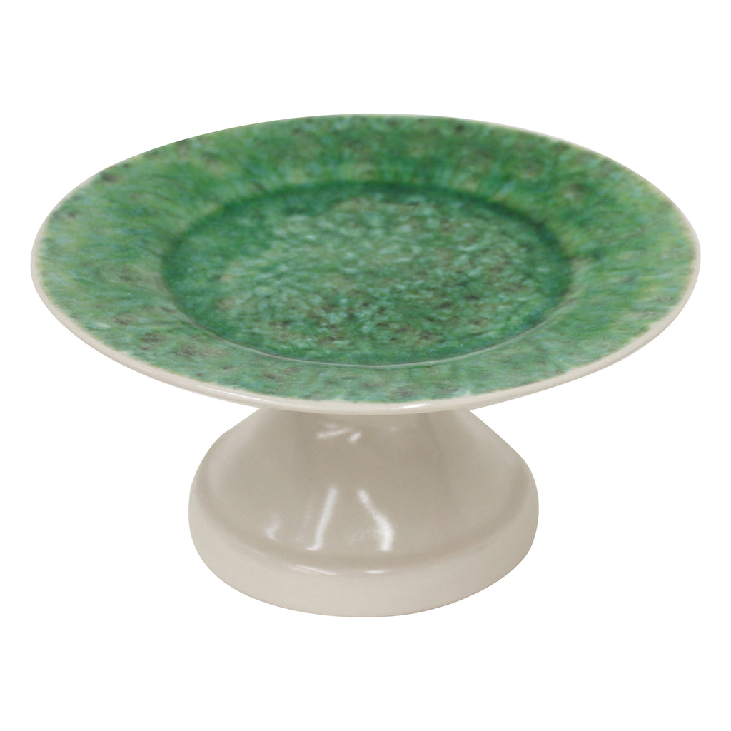 Bali Footed Cake Plate, Green, Large