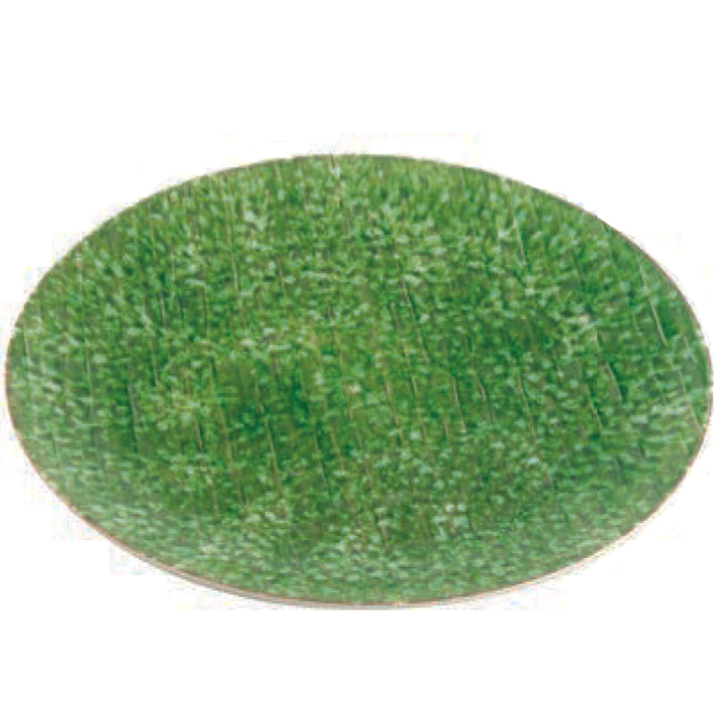 Bali Round Serving Platter, Green