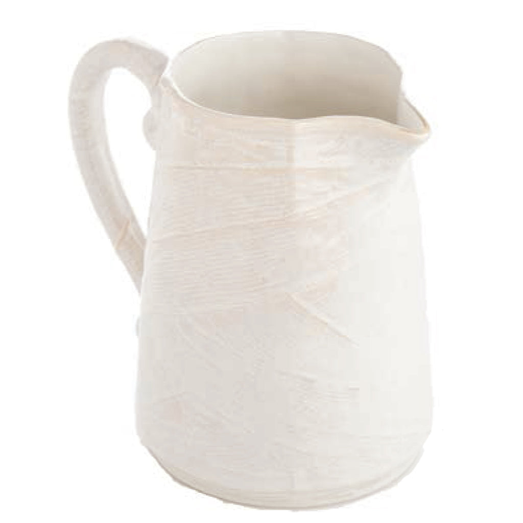 Bali Matte Textured Pitcher, Ivory