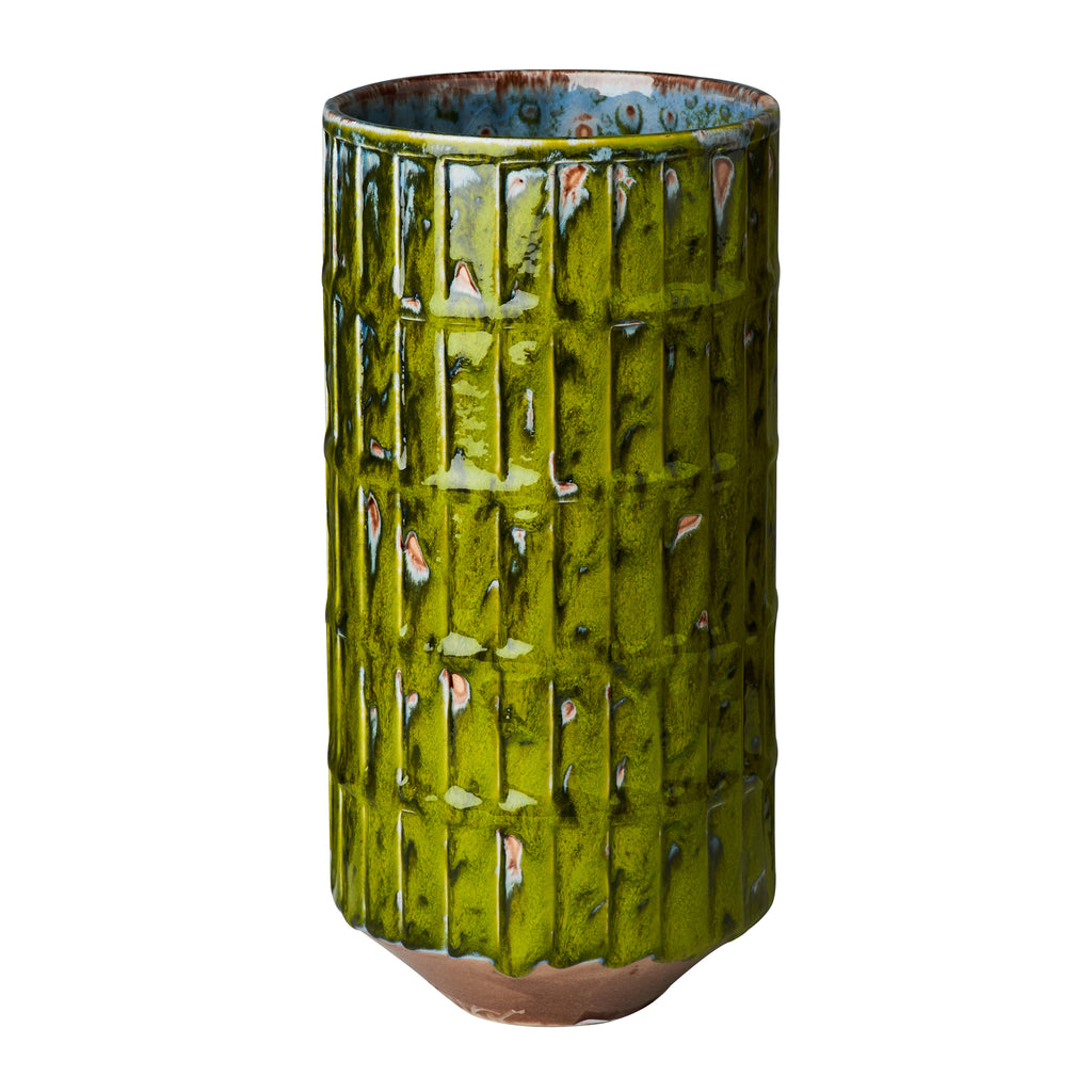Green Botanical Vase, Large