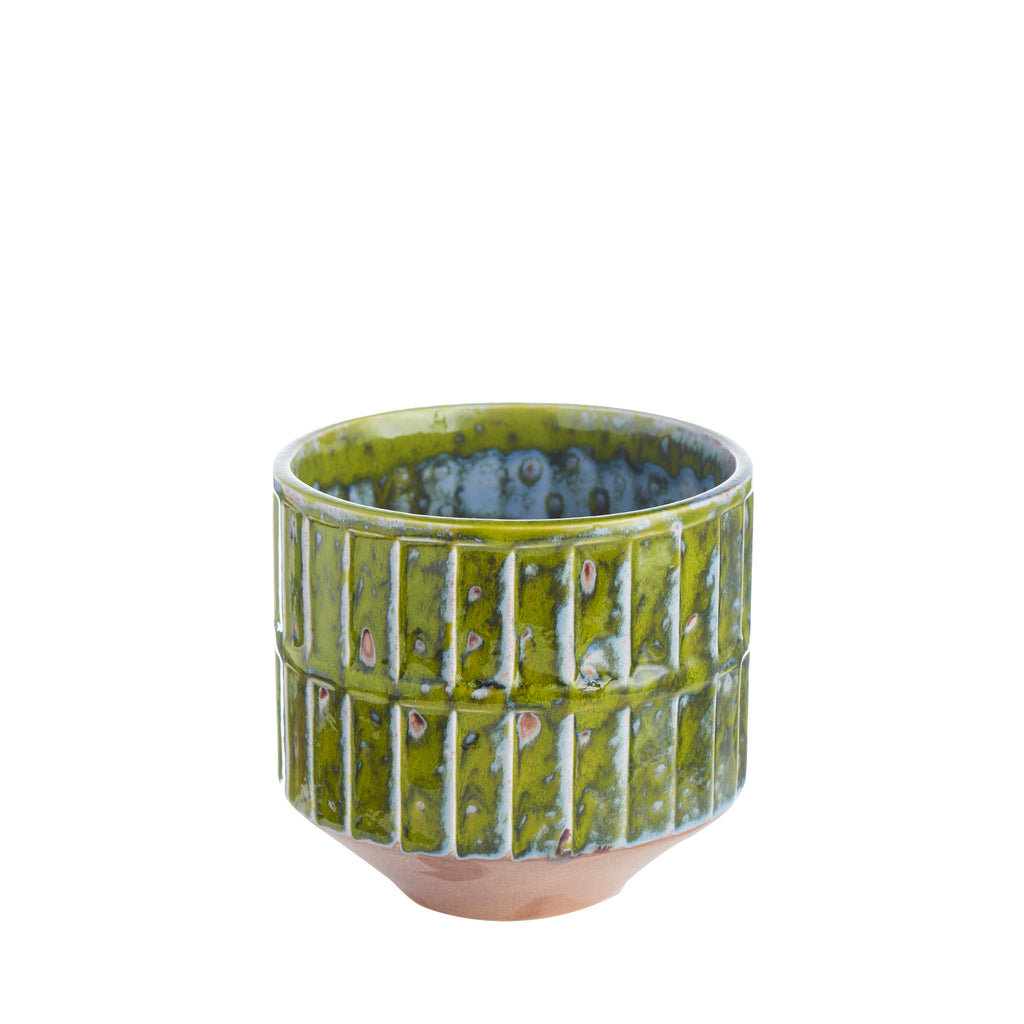 Green Botanical Cachepot, Small