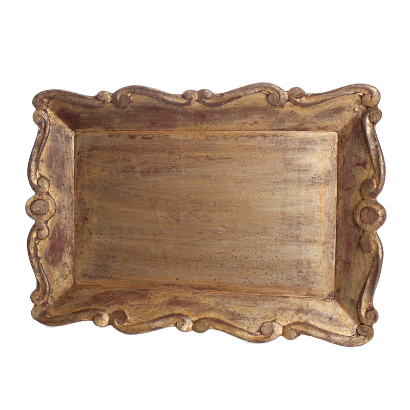 524841 Abigails Wholesale Tabletop Wood and Metals Trays Vendome Tray Scallop Edge Vendome
